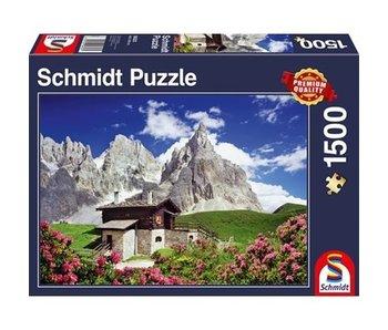 SCHMIDT SCHMIDT PUZZLE 1500: SEGANTINI HUT, DOLOMITES
