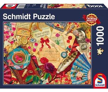 SCHMIDT SCHMIDT PUZZLE 1000: VINTAGE LOVE LETTERS
