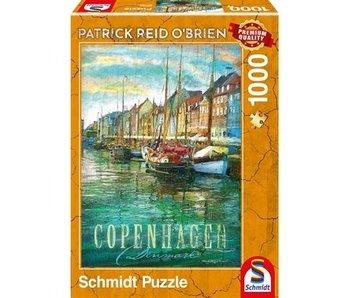 SCHMIDT SCHMIDT PUZZLE 1000: COPENHAGEN, PATRICK REID O'BRIEN
