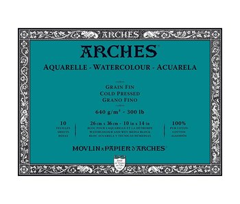 ARCHES ARCHES WATERCOLOUR BLOCK COLD PRESS CP 300LB 12x16