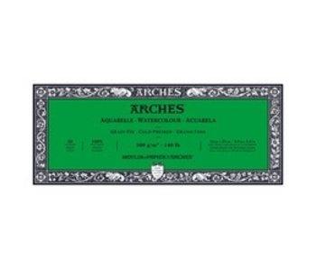 ARCHES WATERCOLOUR 20 Sheet BLOCK COLD PRESS CP 140LB 4 X 10 -