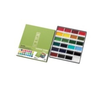 KURETAKE GANSAI TAMBI WATERCOLOR 24PK SET