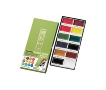 KURETAKE GANSAI TAMBI WATERCOLOR 12PK SET