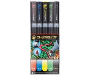 CHAMELEON BRUSH PEN SET 5PK PRIMARIES