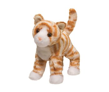 DOUGLAS CUDDLE TOY PLUSH HALLY ORANGE STRIPED CAT