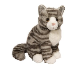 DOUGLAS CUDDLE TOY PLUSH NICKEL GRAY STRIPE CAT