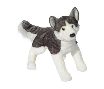 DOUGLAS CUDDLE TOY PLUSH BARKER HUSKY LARGE DOG