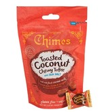 CHIMES GINGER CHEWS 3.5OZ BAG TOASTED COCONUT TOFFEE CHEWY