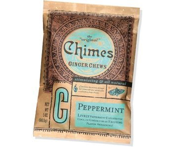CHIMES GINGER CHEWS 5OZ BAG PEPPERMINT