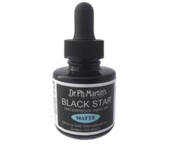 DR. MARTIN BLACK STAR WATERPROOF INDIA INK MATTE 1OZ