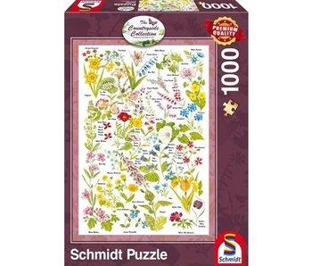 SCHMIDT PUZZLE 1000:  WILDFLOWERS