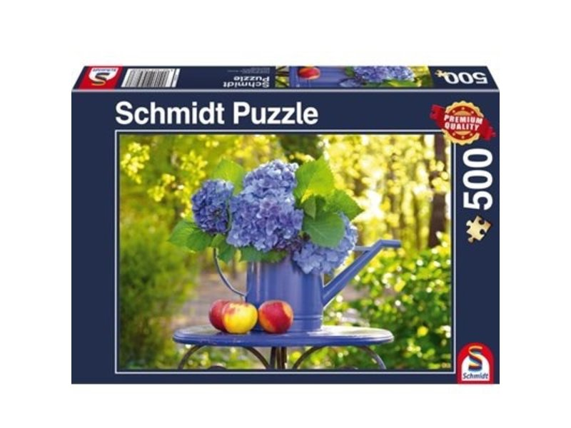 SCHMIDT PUZZLE 500: WATERING CAN WITH HORTENSIA