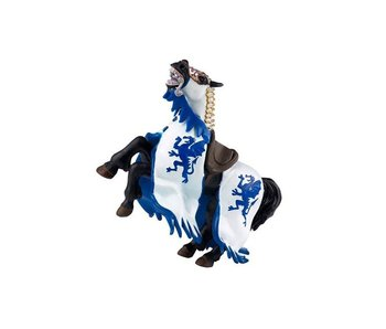 PAPO FIGURINE BLUE DRAGON KING HORSE