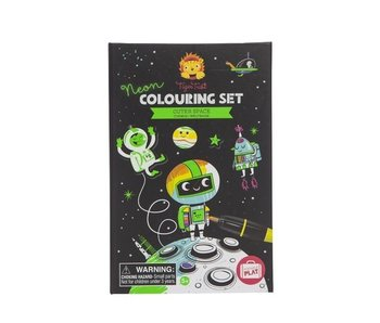 TIGER TRIBE COLOURING SET: OUTER SPACE, NEON