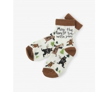 LBH KIDS CREW SOCKS - MAY THE FOREST BE WITH YOU