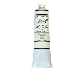 M. GRAHAM ARTIST OIL 150ML TITANIUM WHITE