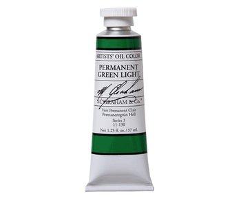 M. GRAHAM ARTIST OIL 37ML PERMANENT GREEN LIGHT