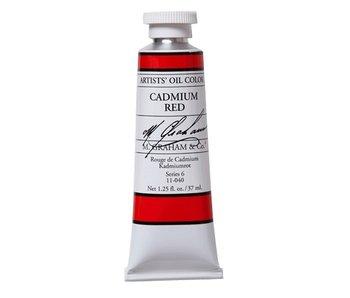 M. GRAHAM ARTIST OIL 37ML CADMIUM RED
