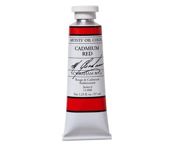 M. GRAHAM ARTIST OIL 37ML CADMIUM RED