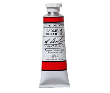 M. GRAHAM ARTIST OIL 37ML CADMIUM RED LIGHT