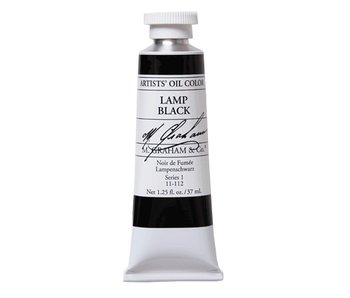 M. GRAHAM ARTIST OIL 37ML LAMP BLACK