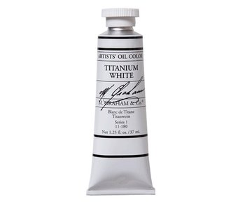 M. GRAHAM ARTIST OIL 37ML TITANIUM WHITE