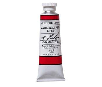 M. GRAHAM ARTIST OIL 37ML CADMIUM RED DEEP