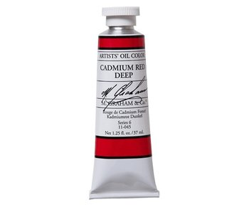 M. GRAHAM ARTIST OIL 37ML CADMIUM RED DEEP