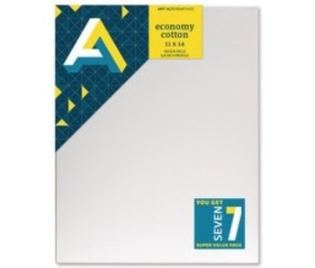 ART ALTERNATIVES ECONOMY STRETCHED CANVAS 11x14 7 CANVAS VALUE PACK