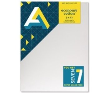 ART ALTERNATIVES ECONOMY STRETCHED CANVAS 9x12 7 CANVAS VALUE PACK