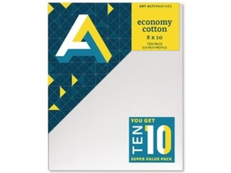 ART ALTERNATIVES ECONOMY STRETCHED CANVAS 8x10 10 CANVAS VALUE PACK