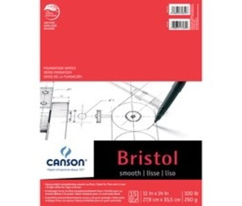 CANSON BRISTOL SPAD SMOOTH 11x14 15 SHEETS