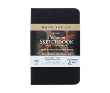 STILLMAN & BIRN PREMIUM SKETCHBOOK MIXED MEDIA 3.5X5.5 BEIGE
