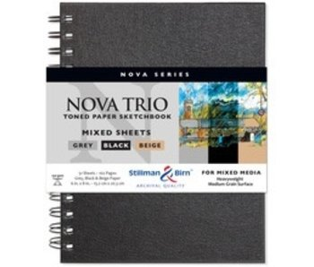 STILLMAN & BIRN PREMIUM SKETCHBOOK MIXED MEDIA TRIO OF COLORED SHEETS 6X8