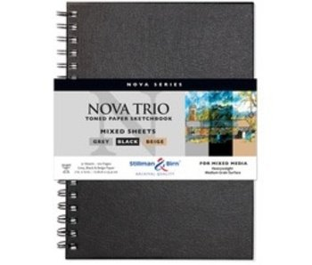 STILLMAN & BIRN PREMIUM SKETCHBOOK MIXED MEDIA TRIO OF COLORED SHEETS 7X10