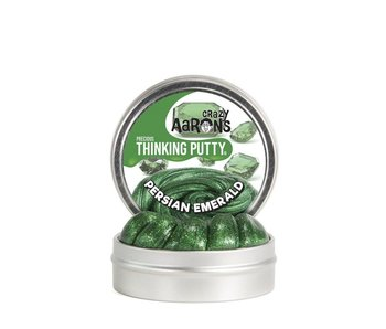 "CRAZY AARON'S THINKING PUTTY 3.5"" TIN PRECIOUS GEMS EMERALD"