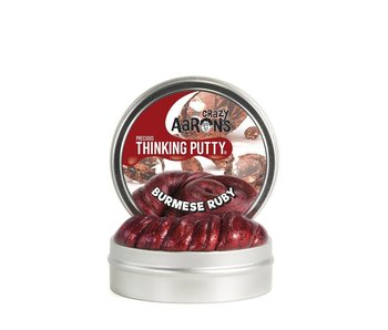 "CRAZY AARON'S THINKING PUTTY 3.5"" TIN PRECIOUS GEMS RUBY"