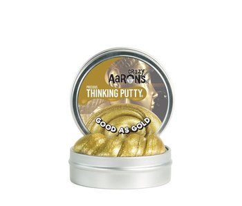 "CRAZY AARON'S THINKING PUTTY 3.5"" TIN PRECIOUS METALS GOLD GLITTER"
