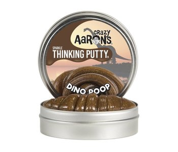 "CRAZY AARON'S THINKING PUTTY 4"" TIN DINO POOP"