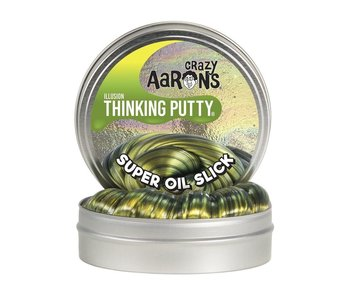 """CRAZY AARON'S THINKING PUTTY 4"""" TIN SUPER ILLUSION OIL SLICK"""