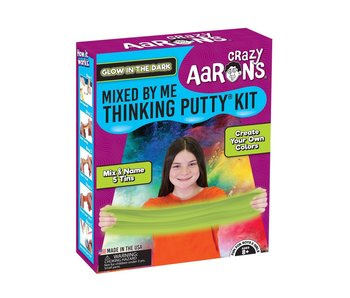 CRAZY AARON'S THINKING PUTTY MIXED BY ME KIT - GLOW IN THE DARK
