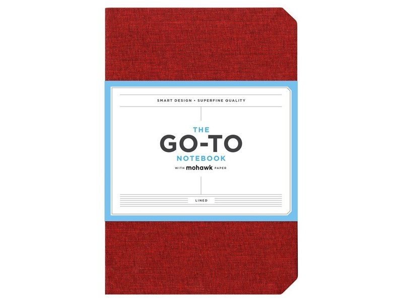 THE GO-TO NOTEBOOK WITH MOHAWK PAPER LINED RED