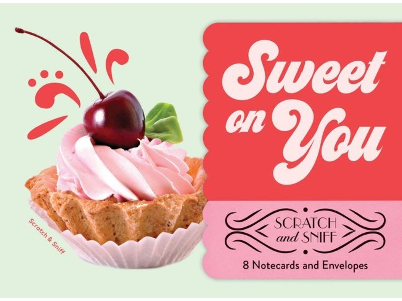 NOTECARDS 8 SWEET ON YOU SCATCH & SNIFF