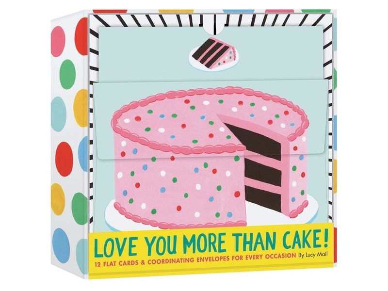NOTECARDS 12 LOVE YOU MORE THAN CAKE