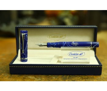 CONKLIN FOUNTAIN PEN OMNIFLEX NIGHTFLEX BLUE WITH WHITE VEINS LIMITED EDITION