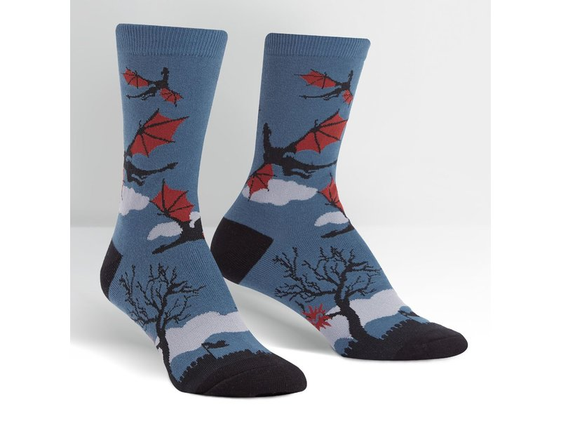 THINKPLAY SOCK IT TO ME: WOMENS CREW SOCKS - TWILIGHT FLIGHT