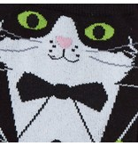 THINKPLAY SOCK IT TO ME: WOMENS CREW SOCKS - TUXEDO CAT