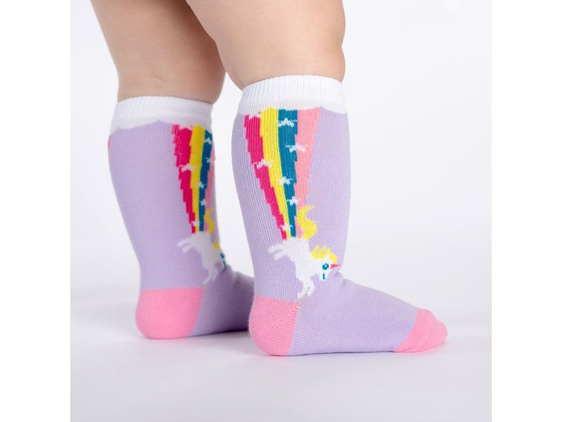 THINKPLAY SOCK IT TO ME: TODDLER KNEE HIGH SOCKS - RAINBOW BLAST