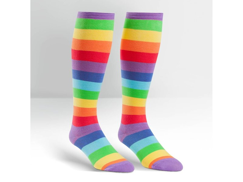THINKPLAY SOCK IT TO ME: STRETCHY KNEE HIGH SOCKS - SUPER JUICY