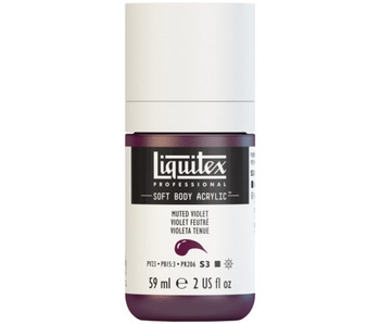 LIQUITEX SOFT BODY ACRYLIC  59ML MUTED VIOLET